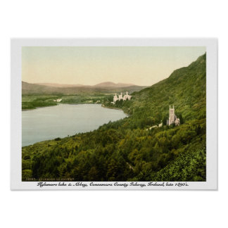 Lago Kylemore & abadia, condado Galway Ireland Poster