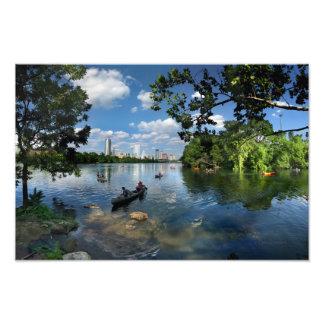 Lago ladybird/skyline 3 de Austin Texas Impressão De Foto