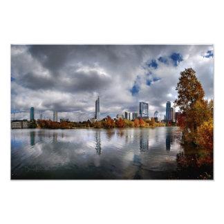 Lago ladybird - skyline 4 de Austin Texas Impressão De Foto