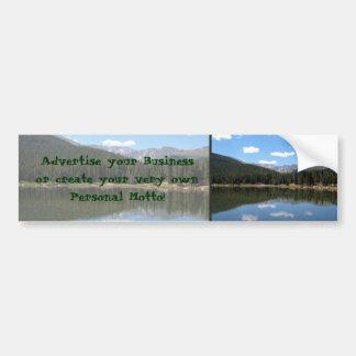 Lago Mt Evans Colorado echo Adesivo De Para-choque