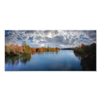 Lago na queda - Austin ladybird, Texas Impressão De Foto