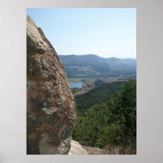 Lago nature e impressão da foto do Mountain View
