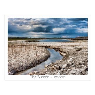 Lago no Burren Cartão Postal
