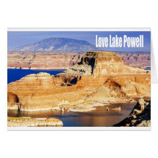 Lago Powell love Cartão