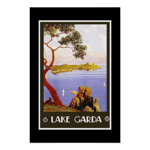 Lago retro Garda travel da imagem do vintage do im