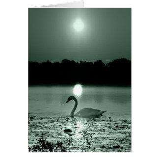 Lago swan cartão comemorativo