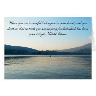 Lago sympathy cartão comemorativo