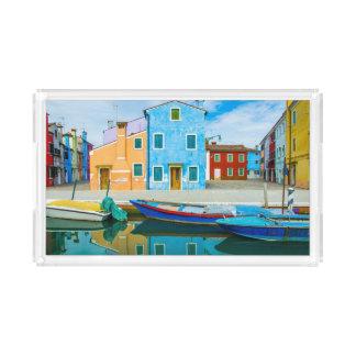 Lagoa colorida da cena  Venetian do barco