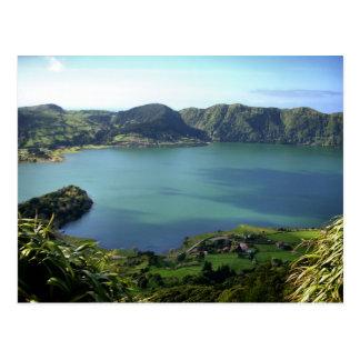 Lagoa de Sete Cidades em S. Miguel, Açores Cartão Postal