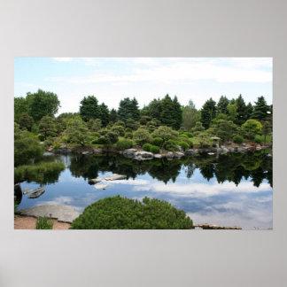 Lagoa dos jardins botânicos de Denver Poster