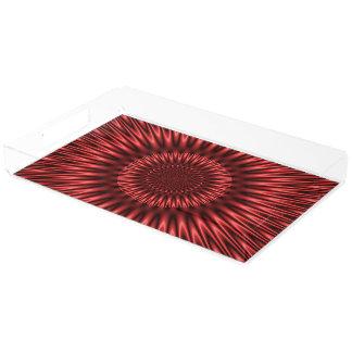 Lagoa vermelha bandeja de acrílico