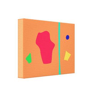 Lagoa vermelha impressão de canvas envolvida