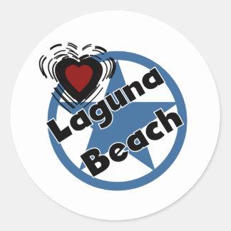 Laguna Beach do amor Adesivo