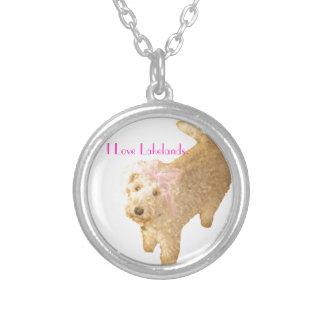 Lakeland Terrier Colar Banhado A Prata