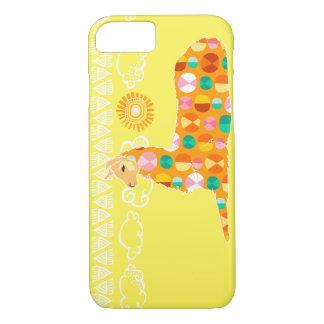 Lama bonito - laranja capa iPhone 8/7