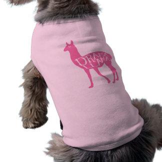 Lama cor-de-rosa do drama camisa sem mangas para cachorro