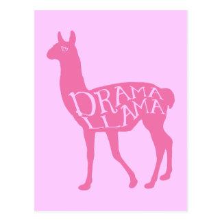 Lama cor-de-rosa do drama cartoes postais