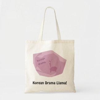 Lama coreano do drama bolsas para compras