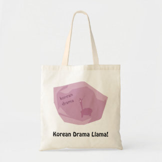 Lama coreano do drama! sacola tote budget