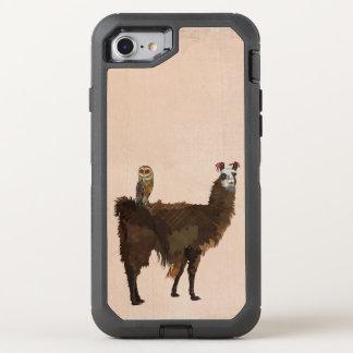 Lama & coruja retro capa para iPhone 7 OtterBox defender