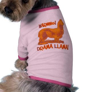 Lama do drama roupa para cães