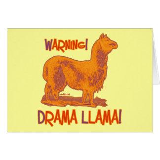 Lama do drama cartões
