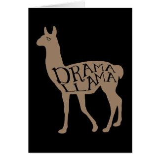 Lama do drama cartão comemorativo