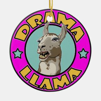 Lama do drama, ornamento de cerâmica redondo