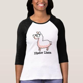 Lama do hipster camiseta