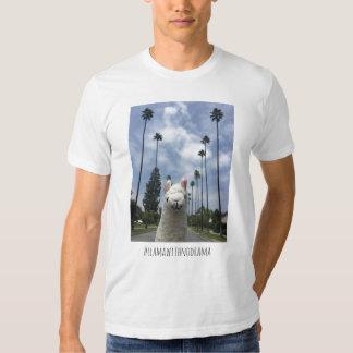 Lama sem o t-shirt do LA do drama
