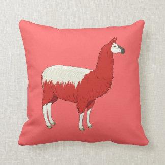 Lama vermelho engraçado almofada
