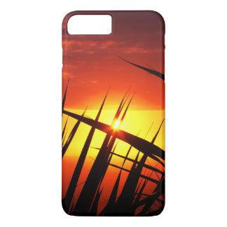 Lâminas do cenário bonito do por do sol da grama capa iPhone 7 plus
