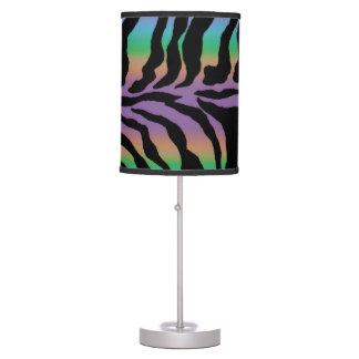 Lâmpada animal psicadélico do impressão da zebra