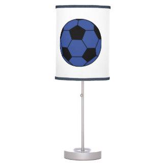 Lâmpada azul da bola de futebol