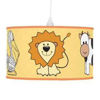 Lâmpada da sala dos miúdos animais das ilustrações