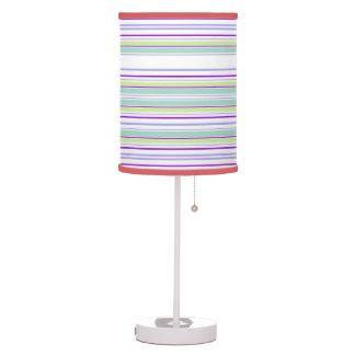 Lâmpada de mesa multicolorido das listras