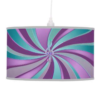 Lâmpada de suspensão abstrata do Aqua violeta do