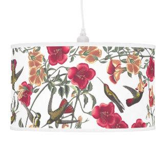 Lâmpada de suspensão floral dos pássaros do