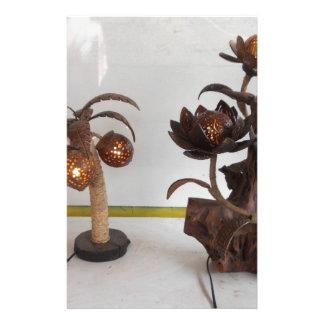 lâmpada do escudo do coco papelaria