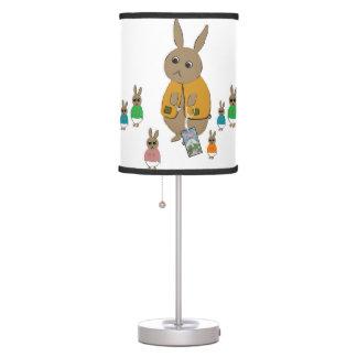 Lâmpada para miúdos com coelhos