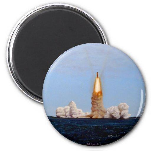 Lançamento da canela de Atlantis Imãs De Refrigerador