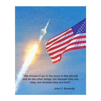 Lançamento de Apollo 11 Impressão Em Canvas
