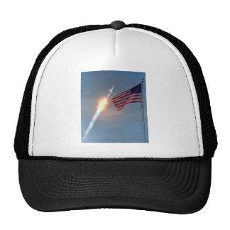 Lançamento de Apollo 11, com bandeira, NASA Boné