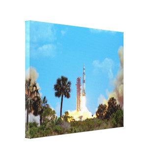 Lançamento de Apollo 16 Impressão De Canvas Esticada