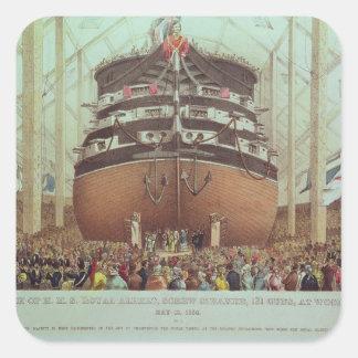 Lançamento de H.M.S. Real Albert, navio a vapor do