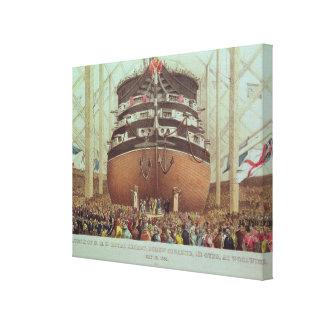 Lançamento de H.M.S. Real Albert, navio a vapor do Impressão Em Tela Canvas