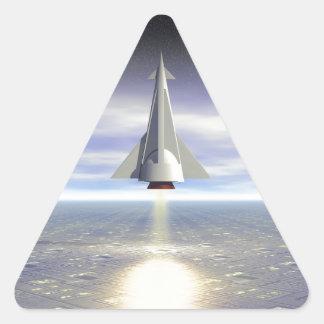 Lançamento de Rocket Adesivo Triangular