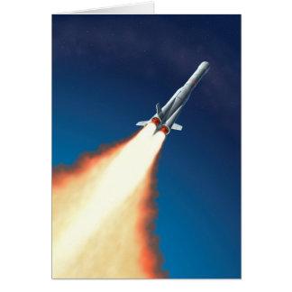 Lançamento de Rocket Cartão Comemorativo