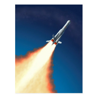 Lançamento de Rocket Cartão Postal