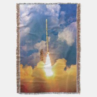 Lançamento de Rocket do escuteiro Throw Blanket